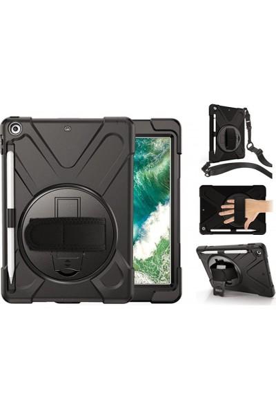 Fujimax Samsung P580/P585/P587 Kalemli Model Zırh Özellikli Defender Tablet Kılıf Siyah