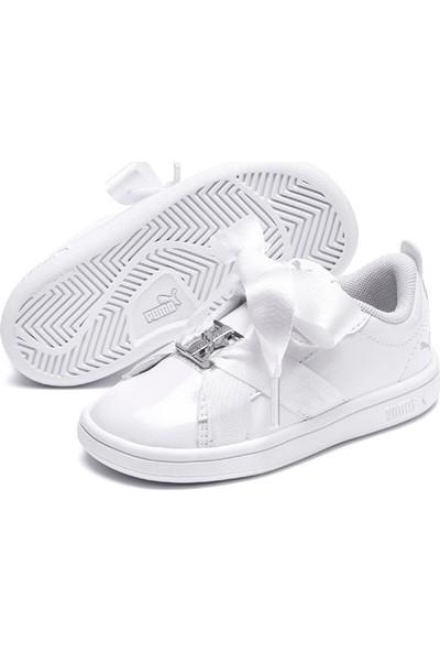 Puma Smash V2 Bkl Patent Ac I Beyaz Kız Çocuk Sneaker Ayakkabı