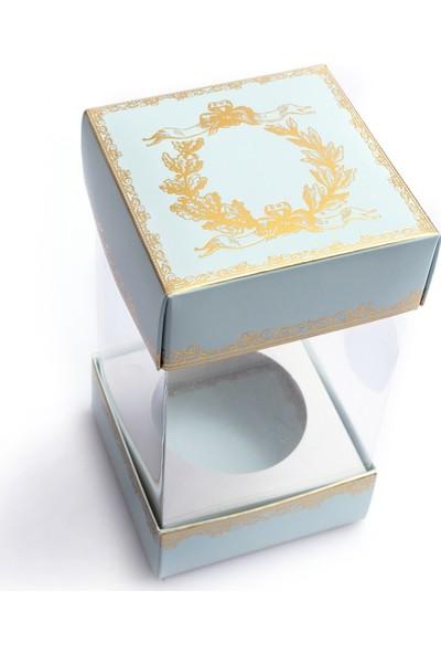 Ambalaj Hikayeleri Alt Üst Karton Kapak Mint Gold Varaklı Asetat Kutu