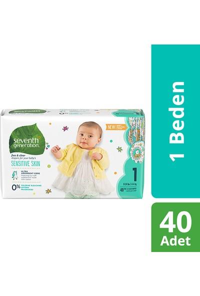 Seventh Generation 1 Beden 4-6 kg Bebek Bezi