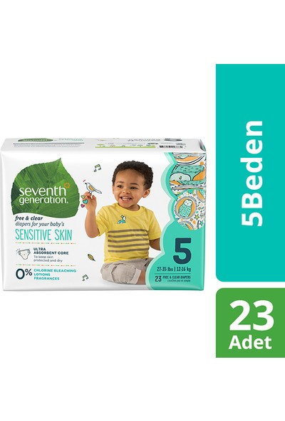 Seventh Generation 5 Beden 12- 16 kg Bebek Bezi