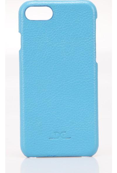 Dc Apple iPhone 7 / 8 Deri Arka Kapak - Mavi