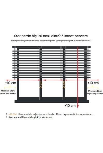 Zebraevim H-2014-01 Ekru Çift Mekanizmalı Tül Stor Perde Etek Dilimli