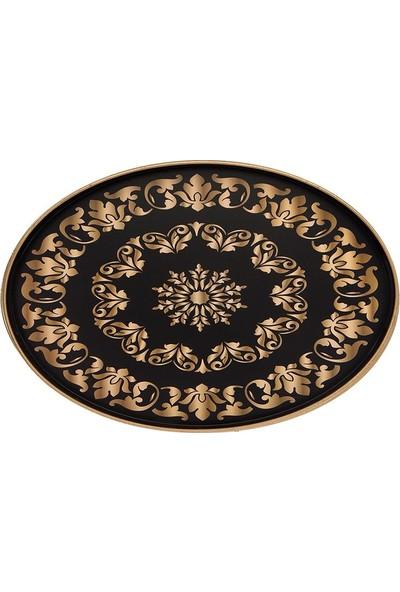 Zucci Oval Gold Buyuk Siyah Tepsı 3