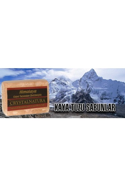 Crystalnatura Himalaya Doğal Tuzu Sabun Şeklinde