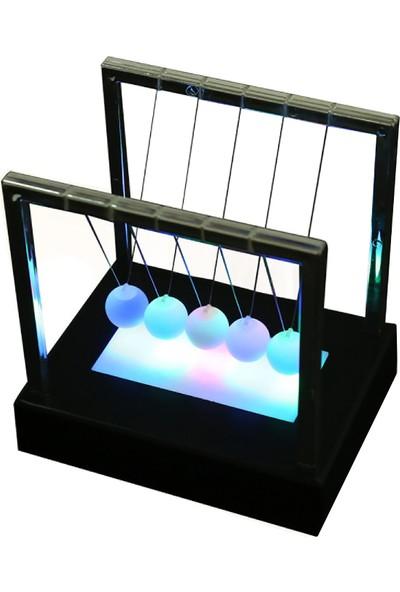 Ece Newton Topları Ledli Newton Beşiği Büyük Boy 15 x15 c 11.5 cm