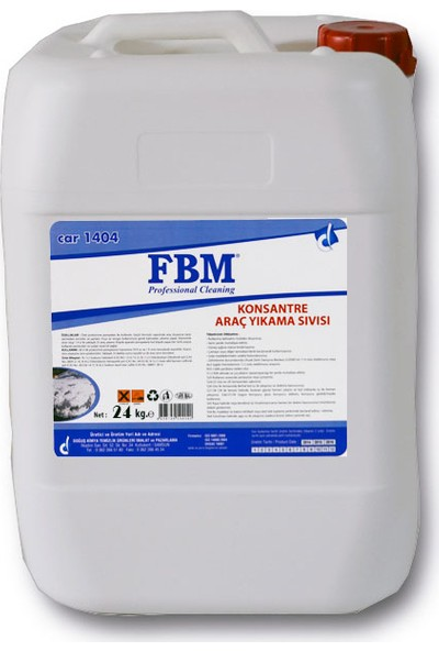 Fbm Konsantre Araç Yıkama Sıvısı - 24 kg