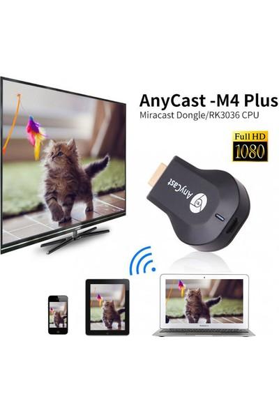 AnyCast M4 Plus Full HD Android iOS Uyumlu Kablosuz HDMI Ses ve Görüntü Aktarıcı
