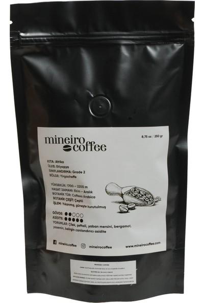Mineiro Coffee Single Origin Etiyopya Yirgacheffe ogutulmemis CEKIRDEK Kahve 250gr