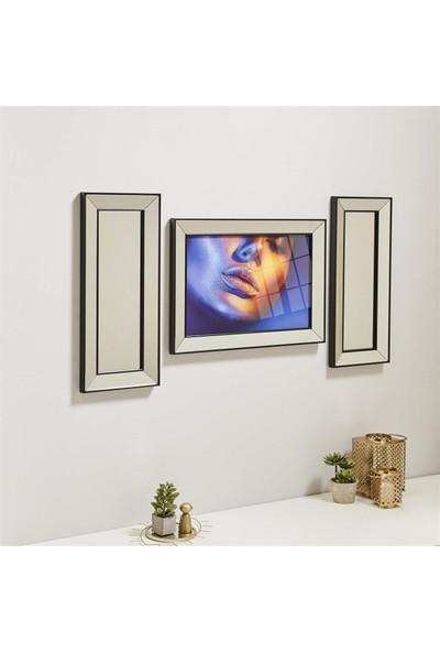 Neostill Ayna Çerçeveli Tablo Temperli Cama Uv Baskı T806