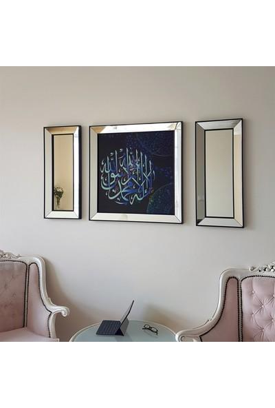 Neostill Ayna Çerçeveli Tablo Temperli Cama Uv Baskı T810