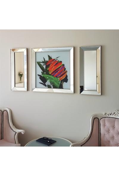 Neostill Ayna Çerçeveli Tablo Temperli Cama Uv Baskı T801