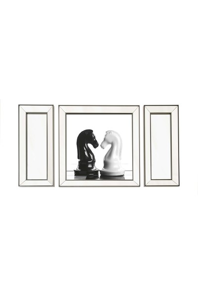 Neostill Ayna Çerçeveli Tablo Temperli Cama Uv Baskı T809