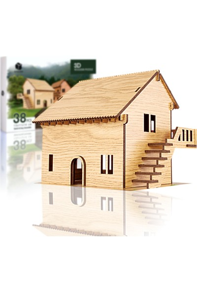 Pershang Rüya Evi 38 Parça Ahşap 3D Puzzle