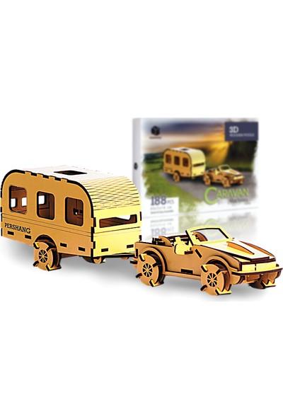 Pershang Karavan 188 Parça Ahşap 3D Puzzle