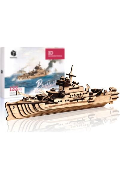 Pershang Savaş Gemisi 132 Parça Ahşap 3D Puzzle