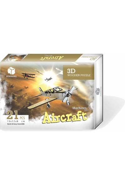 Pershang Aircraft 21 Parça Ahşap 3D Puzzle
