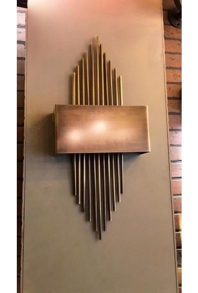 Kule Aydınlatma Metal Gövde Üzere Bronze Kaplama Bronze Ön Panel E-14 Çift Duylu Düvar Aydınlatması