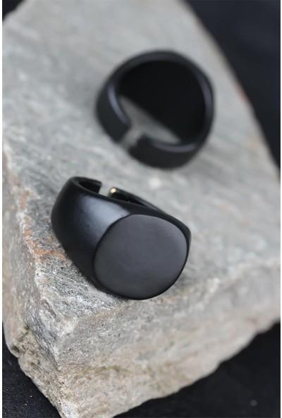 Bu Farklı Siyah Renk Metal Erkek Yüzük - BF16247