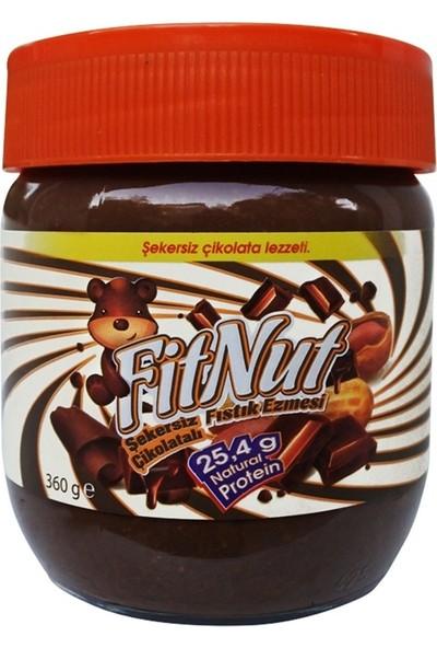 Fitnut Şekersiz Çikolatalı Fıstık Ezmesi 360 gr