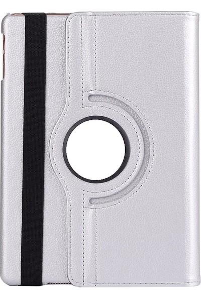 "EssLeena Samsung Kılıf Seti Galaxy Tab E SM-T560/T561/T562/T565/T567 9.6"" 360 Derece Dönerli PlusTech Kılıf + Kalem + Spor Bluetooth Kulaklık + Şarj Kablosu (Gri)"
