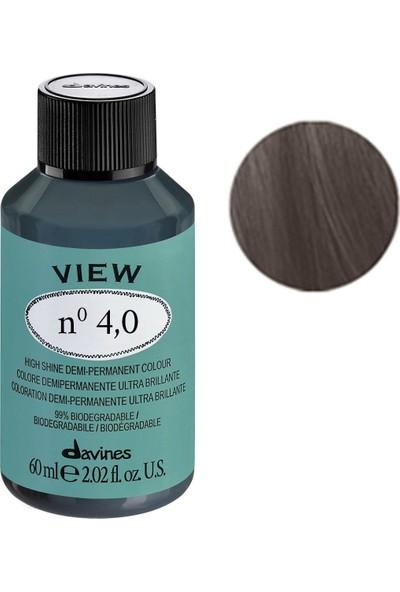 Davines View Yarı Kalıcı Saç Boyası 60 ml - 4,0 Orta Kahve