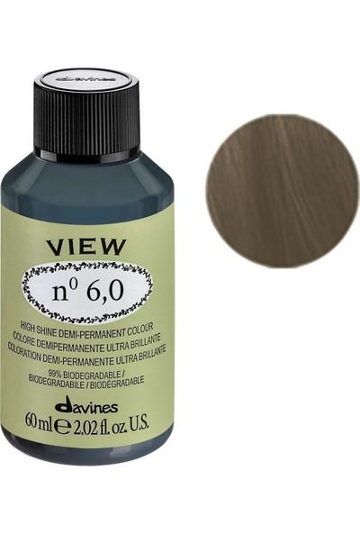 Davines View Yarı Kalıcı Saç Boyası 60 ml - 6,0 Koyu Kumral