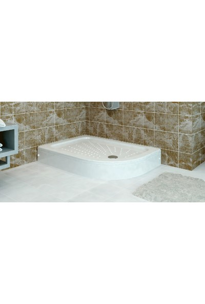 Ubm Banyo Asimetrik Oval Duş Teknesi Sağ H:15 80 x 110 cm