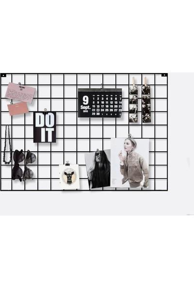 Cem Fotoğraf Askısı Tel Askılık Metal Pano Duvar Askılığı Notluk 50 x 70 cm