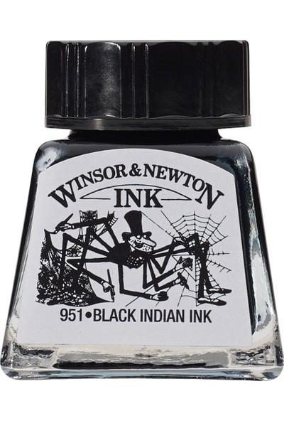 Winsor & Newton Drawing Ink Çizim ve Çini Mürekkebi 030 Black Indian Ink