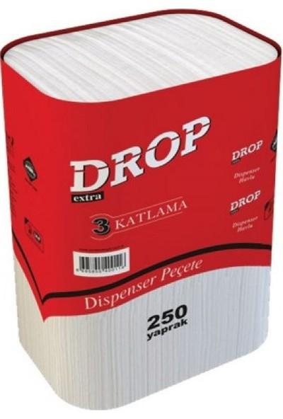 Drop Dispenser Masaüstü Peçete 1 Koli - 18 Paket / 1 Paket - 250 Adet Peçete