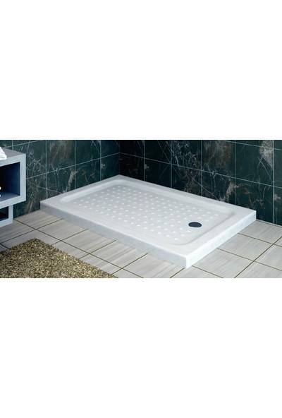 Ubm Banyo Dikdörtgen Monoblok Duş Teknesi 80 x 130 cm