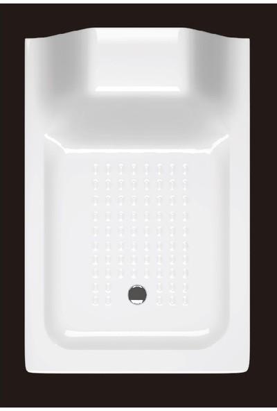 Ubm Banyo Dikdörtgen Oturmalı Duş Teknesi 80 x 100 cm