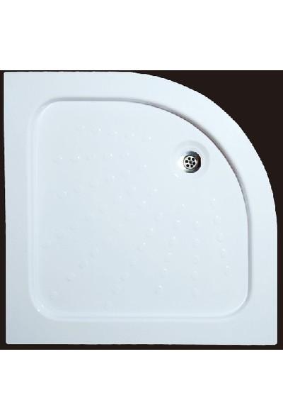 Ubm Banyo Oval Monoblok Duş Teknesi 100 x 100 cm