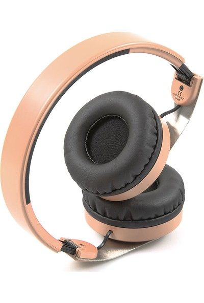 Snopy SN-34BT COSY Mobil Telefon Uyumlu Bluetooth Kablosuz Mikrofonlu Kulaklık - Rose Gold