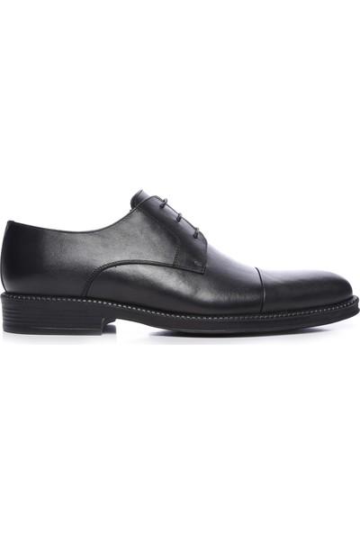 Kemal Tanca Erkek Siyah Antik Deri Klasik Ayakkabı