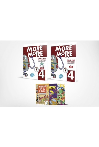 More&more English 4 Practice Book & Workbook + 3 Hikaye Kitabı
