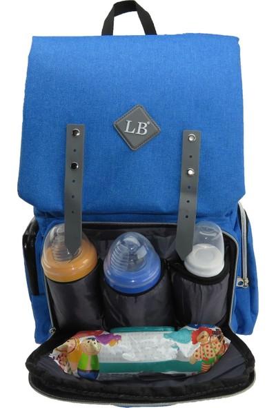 Little Baby Anne Bebek Bakım Çantası Fonksiyonel Bebek Çantası Mavi