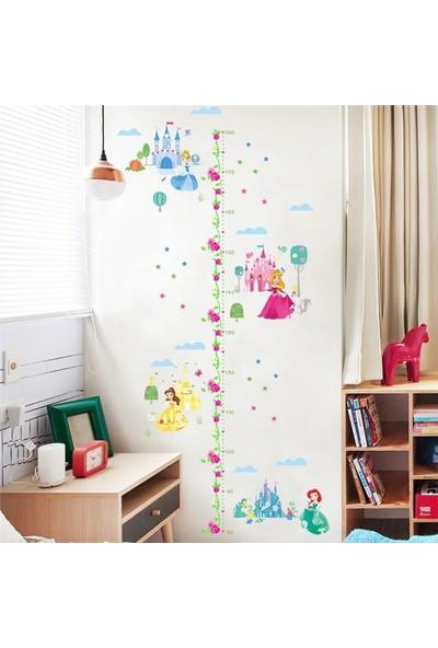 Frigate Çocuk Boy Cetveli Disney Prensesleri Duvar Sticker 180 cm