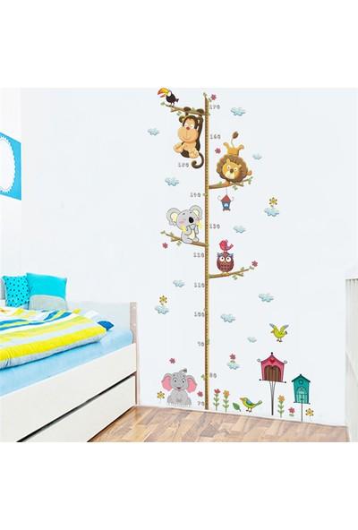 Frigate Çocuk Boy Cetveli Sevimli Orman Hayvanları Duvar Sticker 180 cm