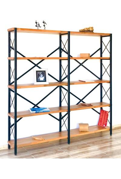 İzzetoğulları Metal Ahşap Kitaplık Seti Ofis Büro Raf K336