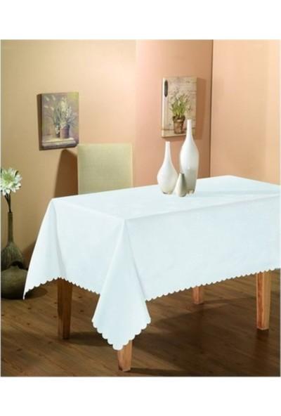 Alas Dertsiz Masa Örtüsü Beyaz