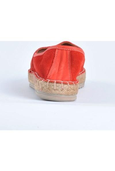 Hotanto Kadın Mila Oranj Deri Yazlık Kadın Sandalet/Günlük Kadın Sandalet