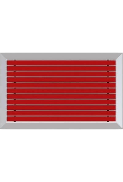 Arfen Kauçuk Üst Yüzeyli Alüminyum Kırmızı Paspas 60 x 90 cm
