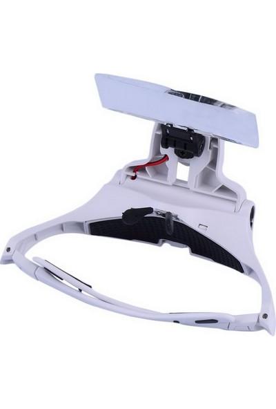 Bluecat Gözlük Büyüteç Cam, 5Lens Led Işıkları Ve Kafa Bandı