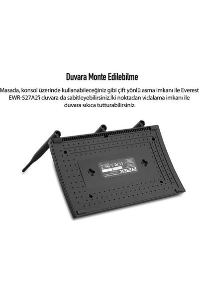 Everest Ewr-527A2 Dual Band Gigabit 1200 Mbps Repeater+Access Point+Bridge Client Kablosuz Router