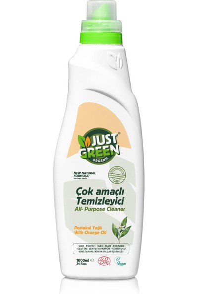 Just Green Organic Yüzel Temizleyici 1000ml