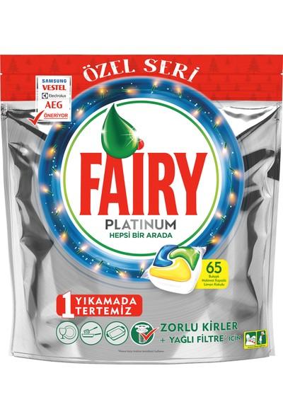 Fairy Platinum 65 Yıkama Bulaşık Makinesi Deterjanı Kapsülü Limon Kokulu Özel Seri