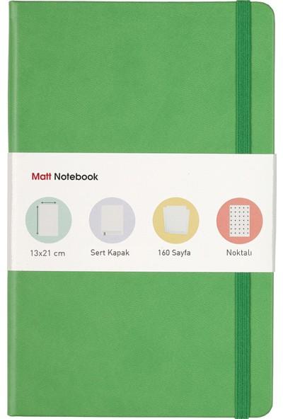 Matt Notebook Lastikli Defter Noktalı 13 x 21 cm Yeşil
