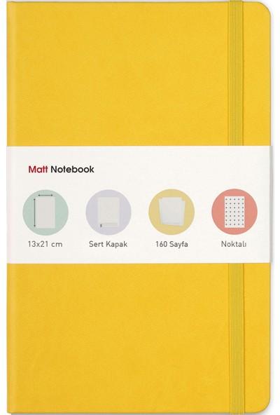 Matt Notebook Lastikli Defter Noktalı 13 x 21 cm Sarı